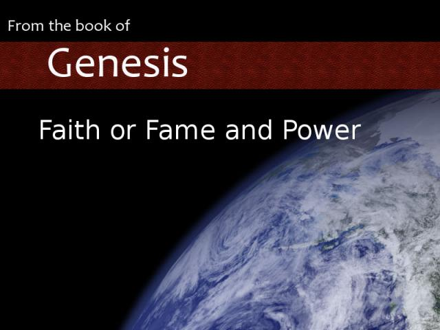 Faith or Fame and Power graphic