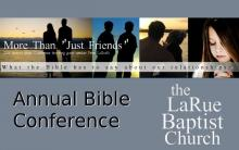 """More Than Just Friends"" Bible Conference banner"